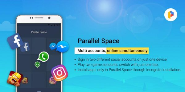 due whatsapp telefono parallel space